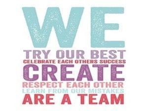 graphic illustrating team togetherness